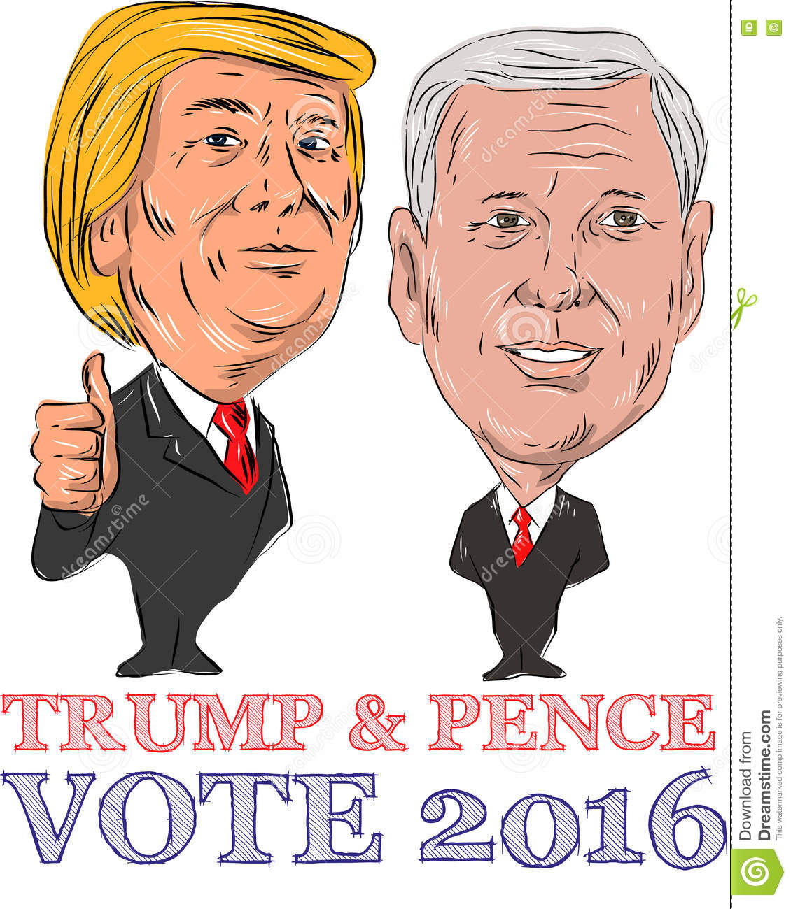 Trump And Pence Vote 2016 Editorial Photo.