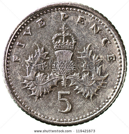 Five Pence Coin Stock Photos, Royalty.