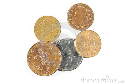 Pence Coins Stock Photography.