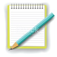 Notebook and Pencil on White Background stock vectors.