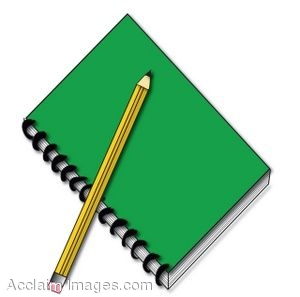 Pencil And Notebook Clipart.