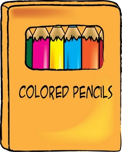 Colored Pencil Box Clipart.