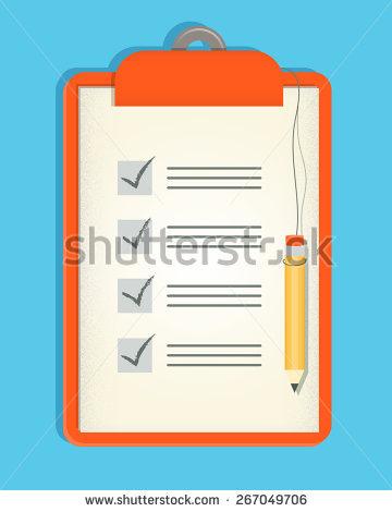 Clipboard Checklist Stock Photos, Royalty.