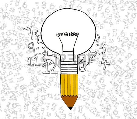 Bulb Attached To Pencil Concept Stock Photo, Picture And Royalty.