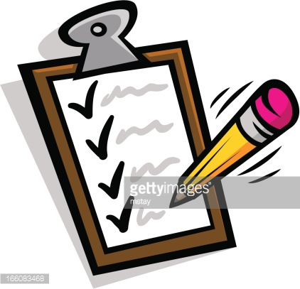 Clipboard and pencil clipart.