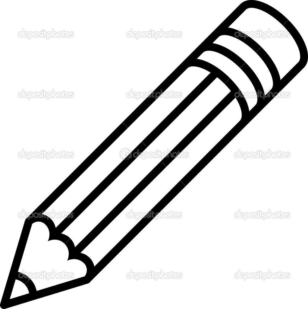 Black And White Pencil Clipart.