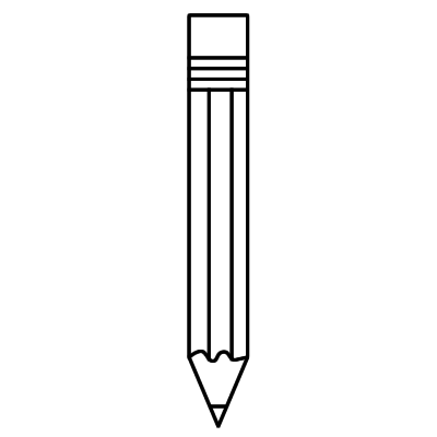 Pencil clipart black and white free clipart images gallery.