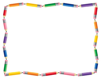 Pencil border pencil clip art borders frames and backgrounds.