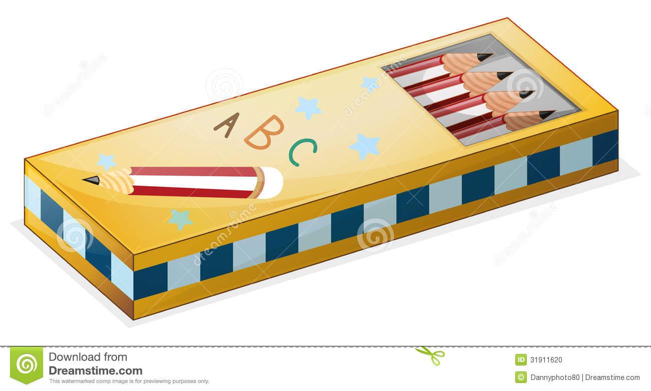 Pencil box clipart.