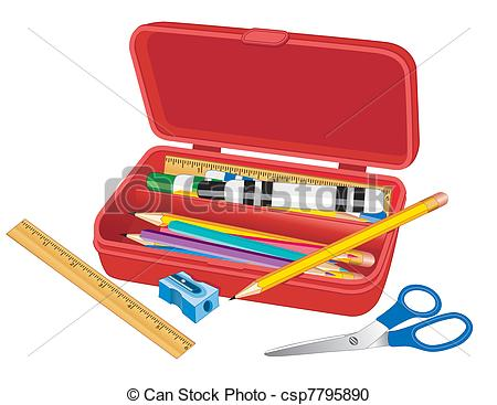 Pencil box clipart.