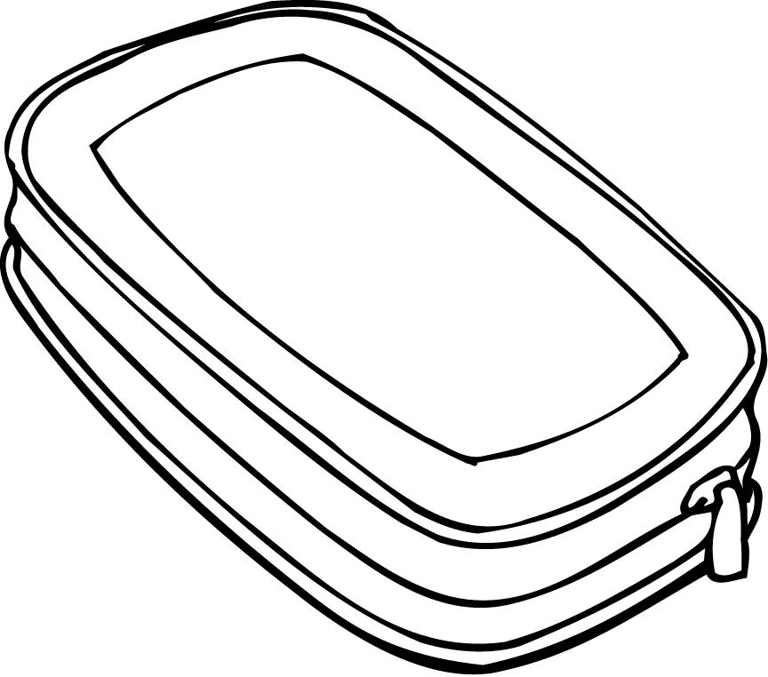 Pencil case clipart black and white 4 » Clipart Station.