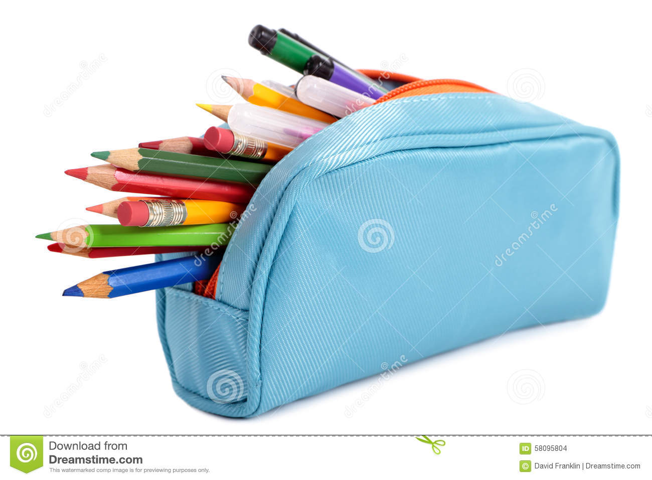 Pencil Case Royalty Free Stock Image.