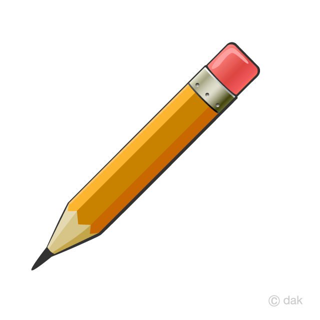 Pencil with Eraser Clipart Free Picture|Illustoon.