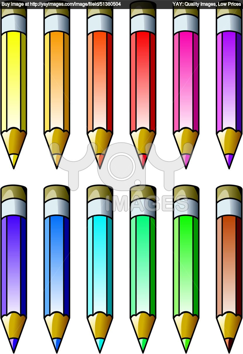Horizontal Pencil Clipart.