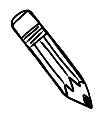Pencil Clipart Black And White Horizontal.
