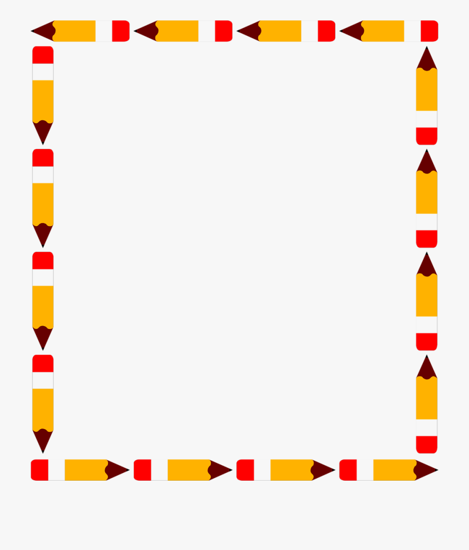 Pencil Border Pencils Free A Blank Pencil Frame.