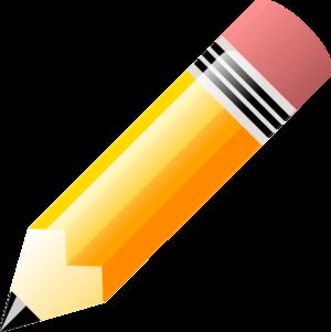 Horizontal Pencil Clipart.