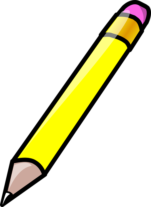 Free vector graphic: Pencil, Eraser, Rubber, Yellow.