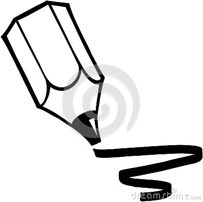 Pencil Drawing Cartoon Vector Clipart Stock Vector.