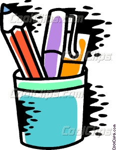 Pencil Holder Vector Clip art.