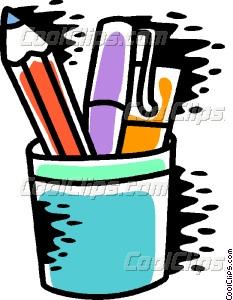 Pencil Holder Vector Clip art.