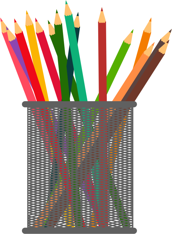 Pencil Holder Clipart.