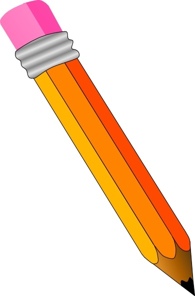 Pencil clip art Free vector in Open office drawing svg.