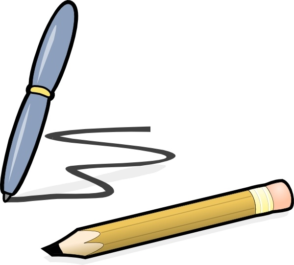 Pen & Pencil clip art Free vector in Open office drawing svg.