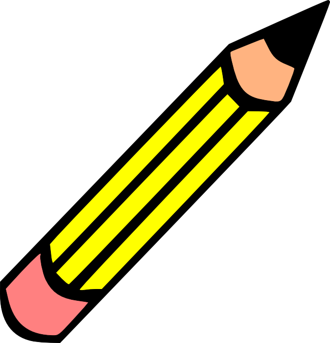Paper and pencil pencil clipart.