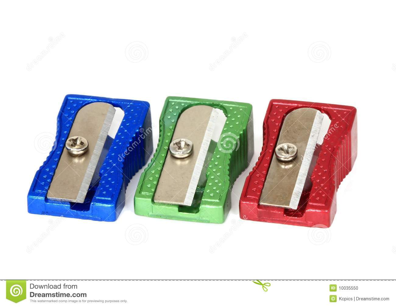 Retro Pencil Sharpeners Stock Photo.