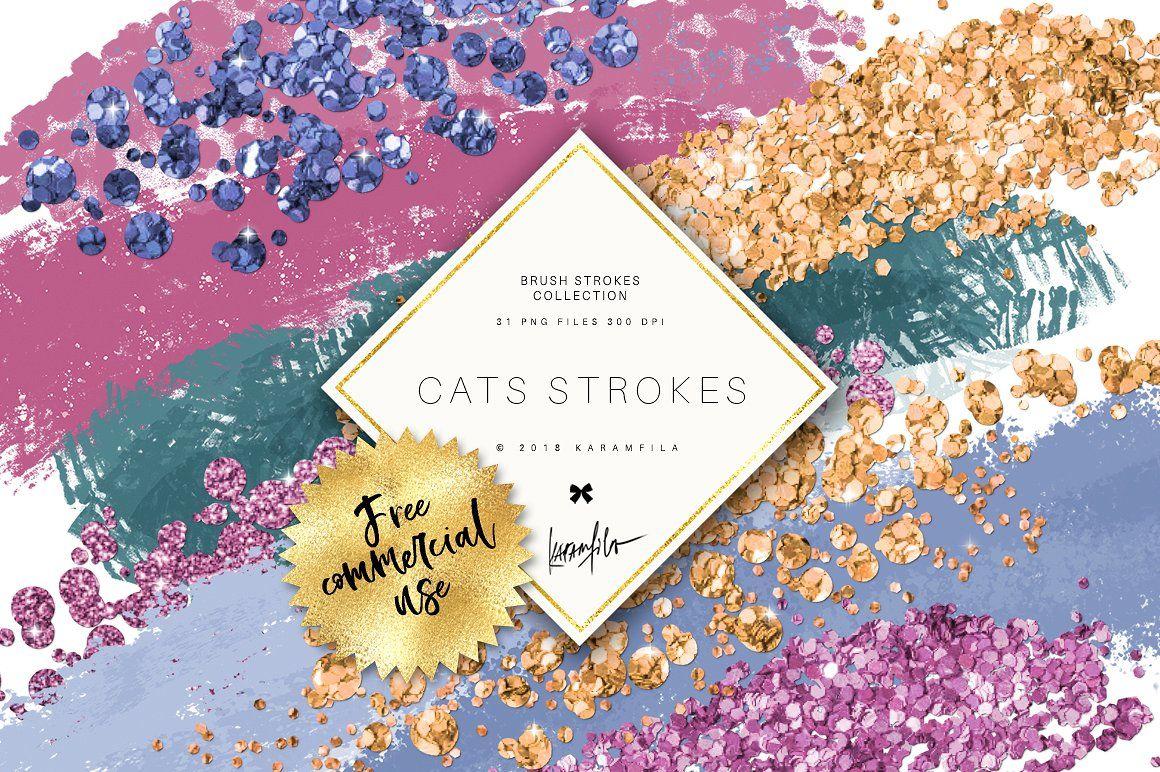 Glitter Brush Stroke Clipart #Basic#Patterns#Seamless.