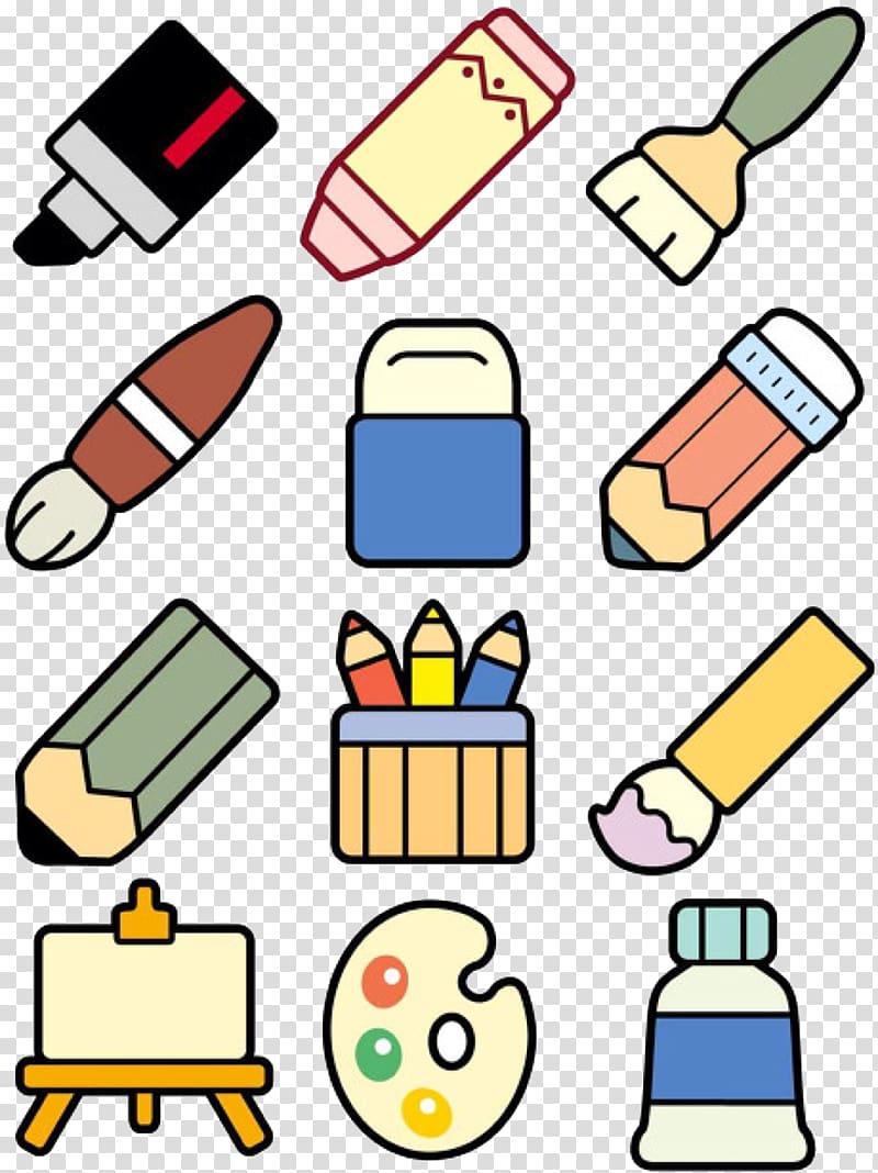 Stroke Stationery Child Ink brush Paintbrush, material.