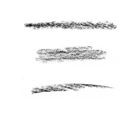 Various pencil strokes on white background Clipart Image.