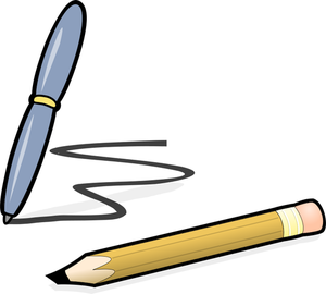 926 pencil writing clipart free.