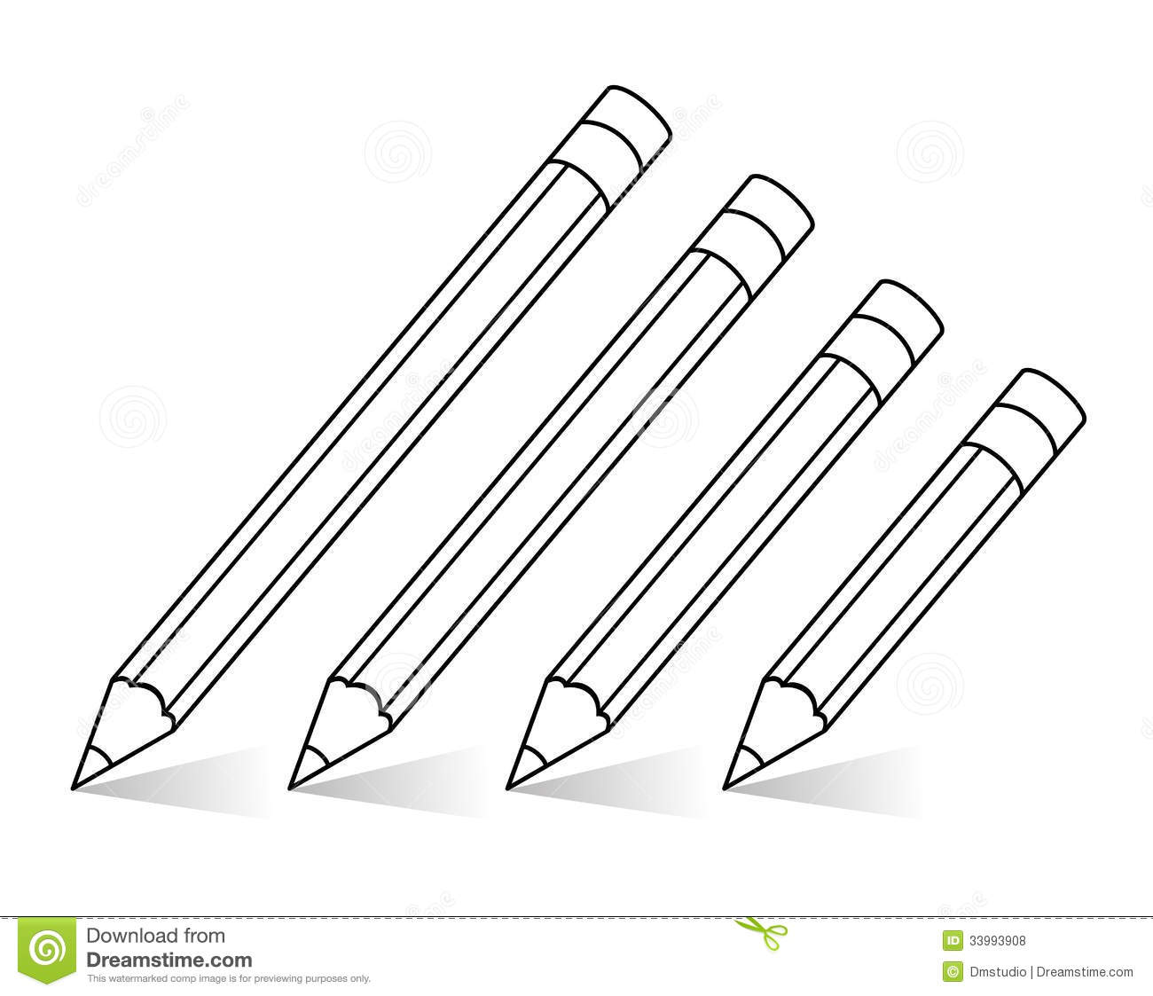 Pencils clipart black and white 5 » Clipart Station.