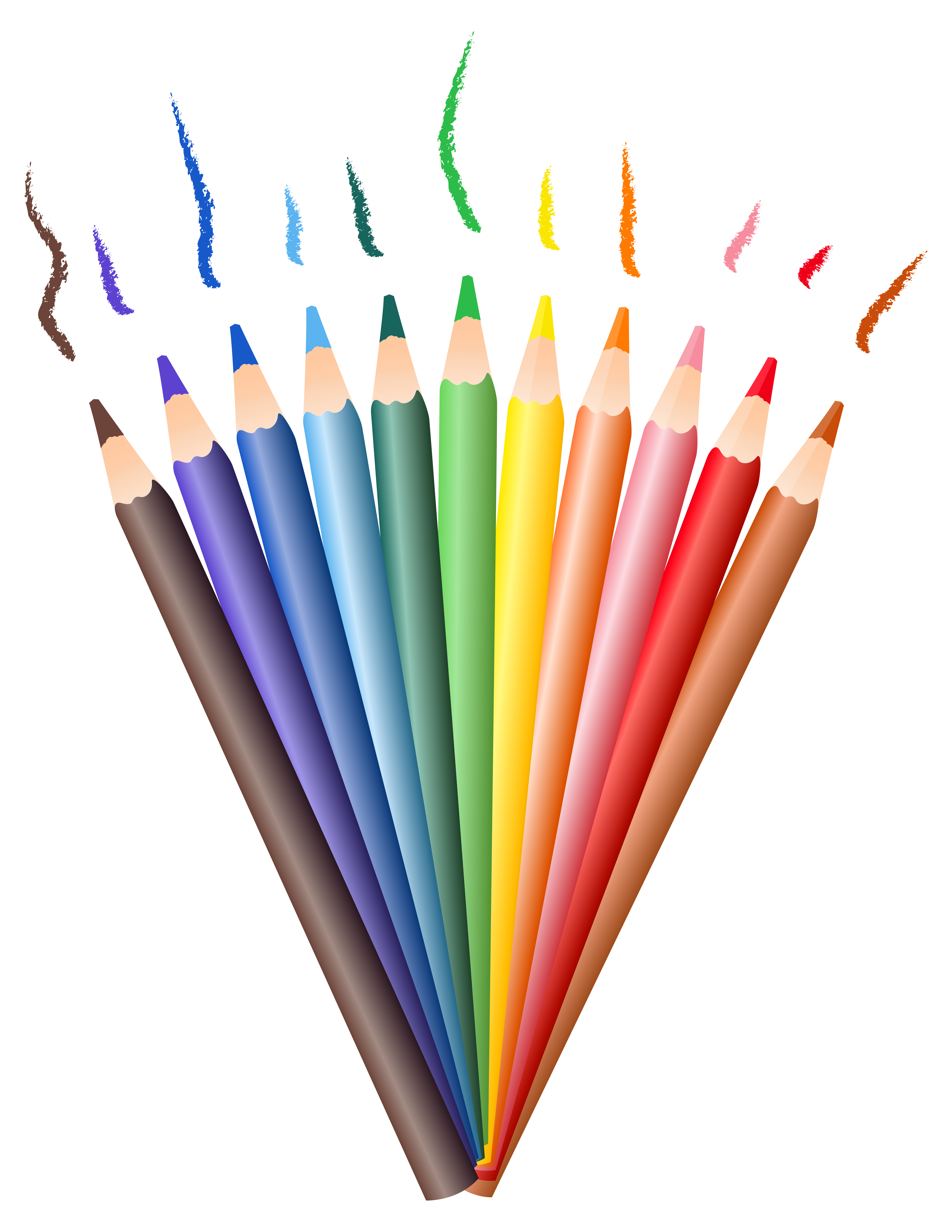 Pencils PNG Clipart Transparent Picture.