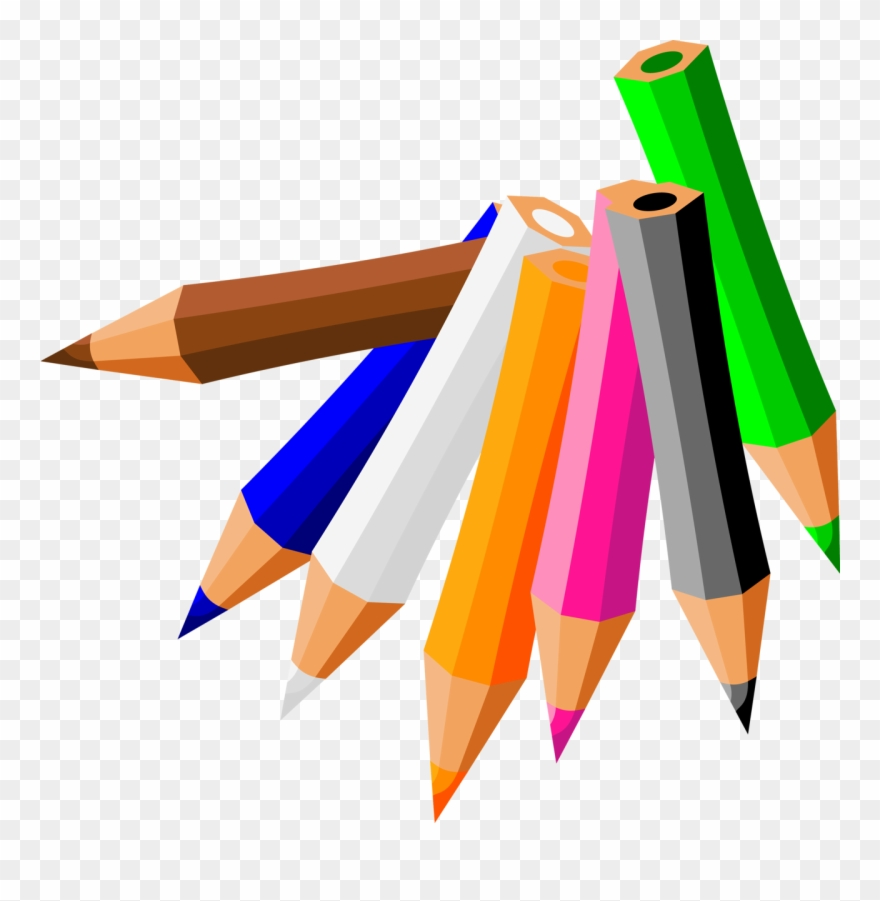 Twelve Pencils Clipart.