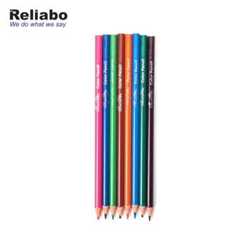 Reliabo Wholesale China Bulk Buying Soft Core Natural Wood Colored Pencils  With Logo.