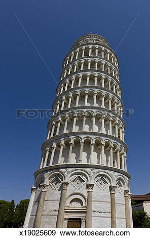 Stock Photograph of The Leaning Tower of Pisa, Torre pendente di.