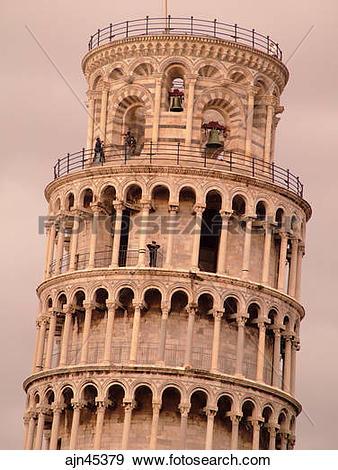 Stock Photograph of Pisa, Tuscany, Italy, Toscana, Europe, Leaning.