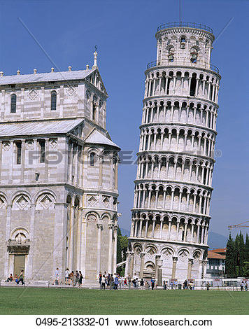 Stock Photography of Italy, Campo dei Miracoli, Leaning Tower.