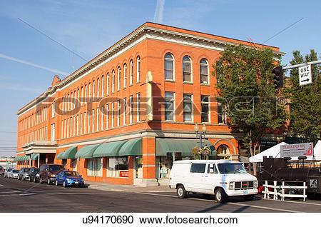Stock Photography of bowman hotel pendleton oregon or historic 17.