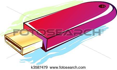 Stock Illustration of Pen drive k3587479.