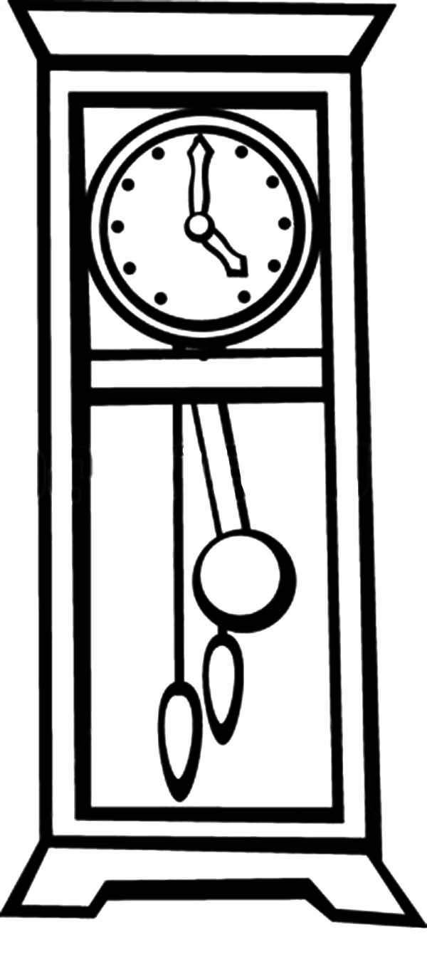 Grandfather Pendulum Clock Coloring Pages.