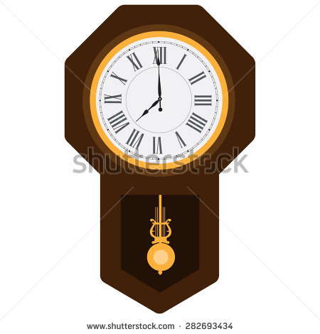 Pendulum Clock Stock Images, Royalty.