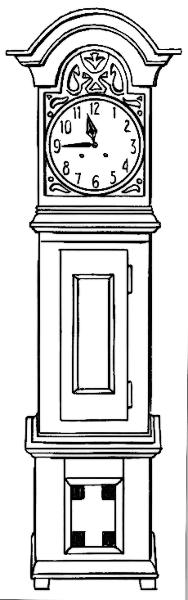 Pendulum Clock Cliparts.