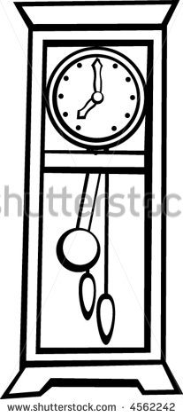 Pendulum Clock Clipart Black And White.