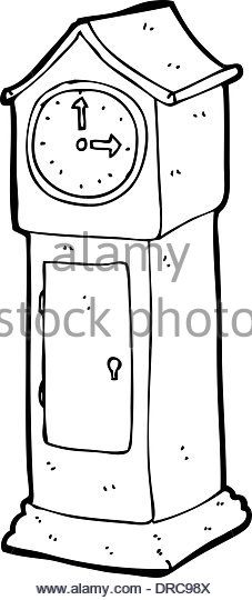 Grandfather Clock Black and White Stock Photos & Images.