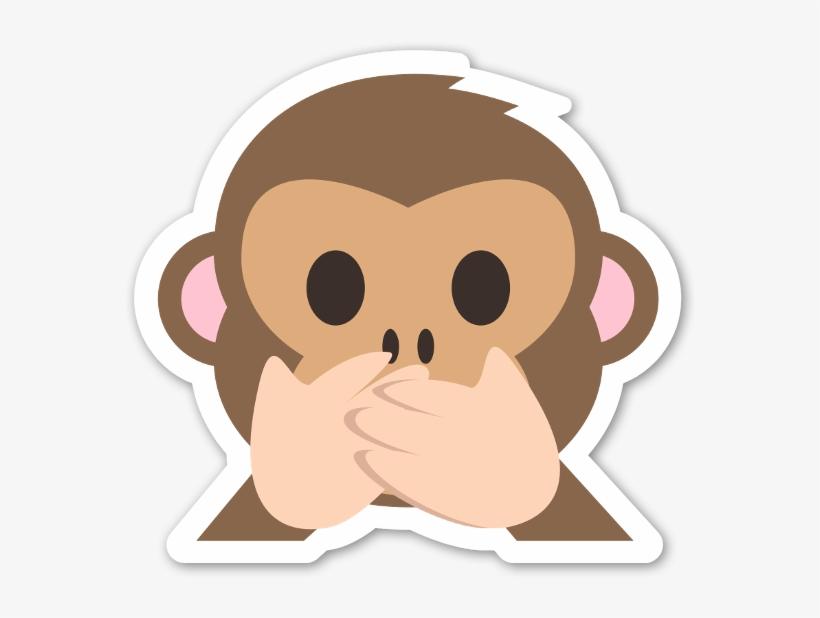El Mono Que No Dice Maldades Pegatina.