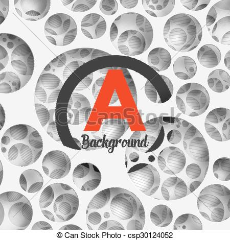 Clipart Vector of Abstract background holey wall with penetrating.